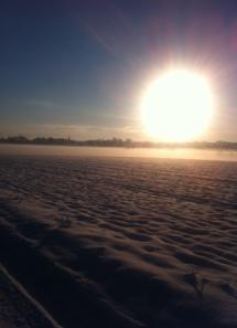 vinter med sol