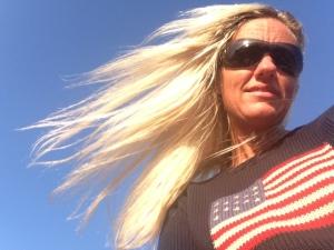 vind i håret